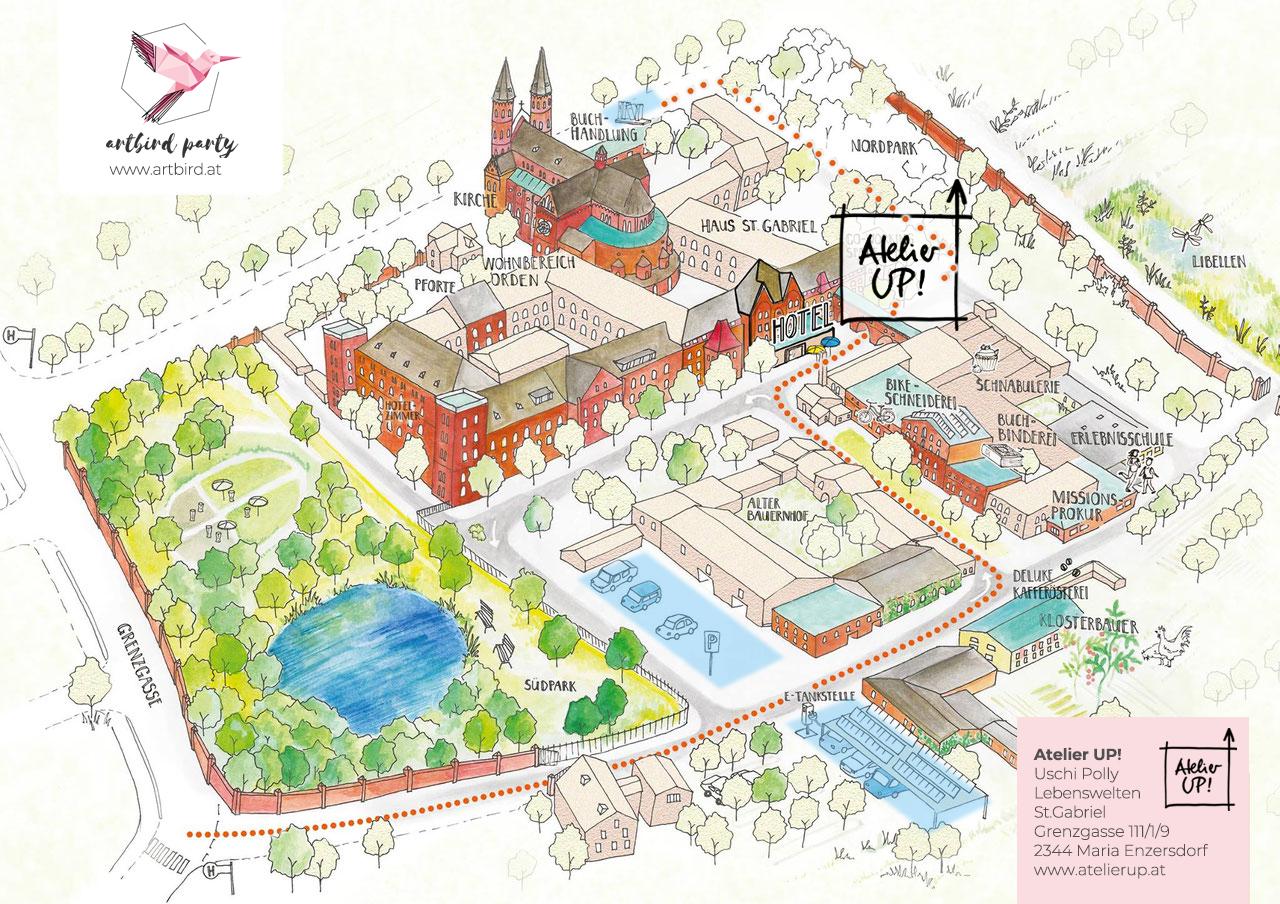 Plan St. Gabriel Maria Enzersdorf