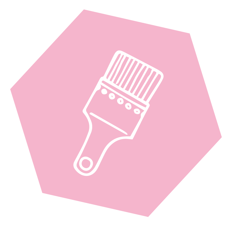Icon mit Pinsel