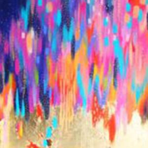 Metallic Farbe auf Leinwand Abstrakt