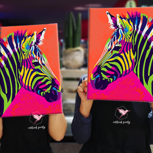 Zebra Pop Art Malkurs