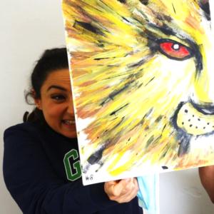 Löwen Bild malen