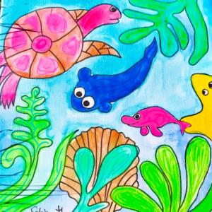 Unterwasserwelt malen