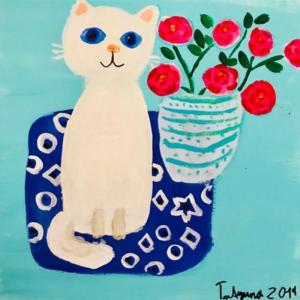 Katze malen mit Kindern