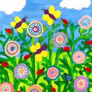 Malen mit Kindern Blumenwiese
