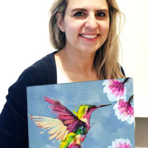 Desiree mit Leinwand Kolibri