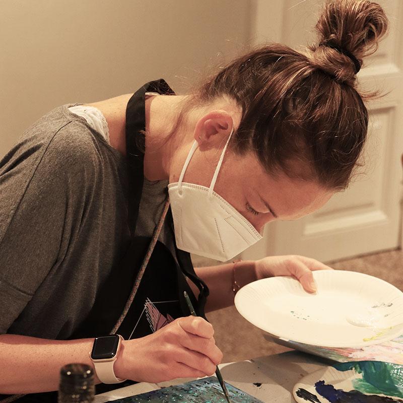 Malen im Atelier
