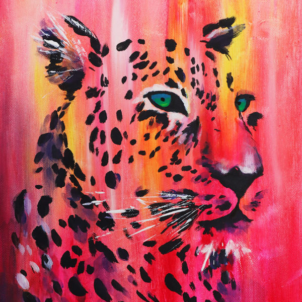Acrylmalkurs Leopard
