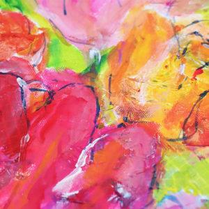 Mixed Media Acryl Blumen