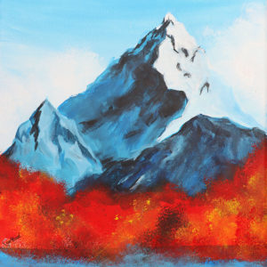 Acrylbild Berge Malkurs