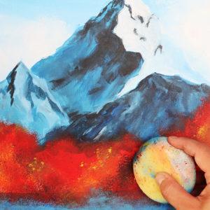 Bergwelten Acrylmalen
